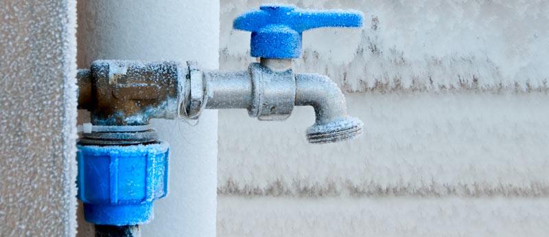 Le compteur d'eau est gelé, que faire ?